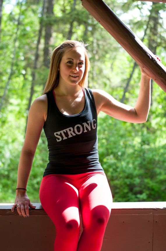 Be Strong Black Cotton Spandex Tank by PiperAthletica on Etsy, $35.00