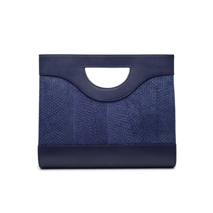 Blue Jenny salmon leather top handle bag 4499