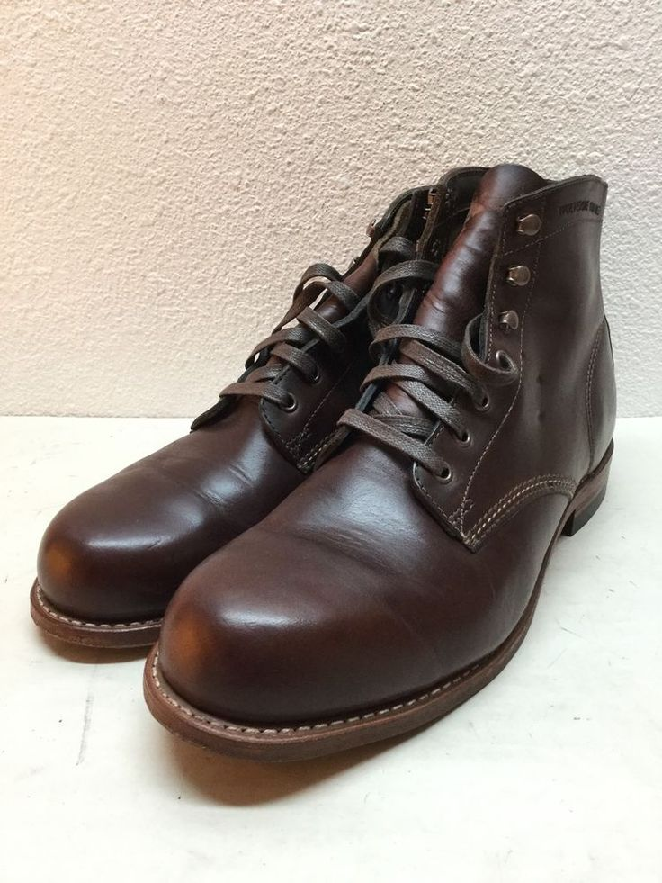 Wolverine 1000 Mile Brown Leather Boots Mens Size 10 D #Wolverine #AnkleBoots