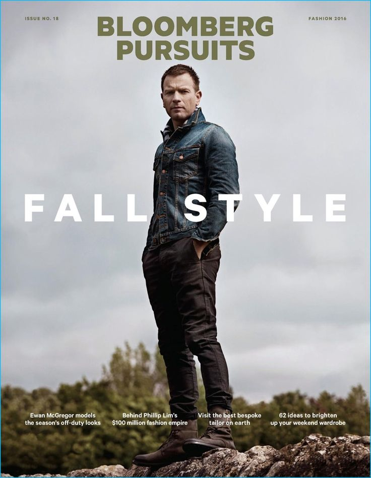 Ewan McGregor covers the fall 2016 edition of Bloomberg Pursuits in a Nudie…