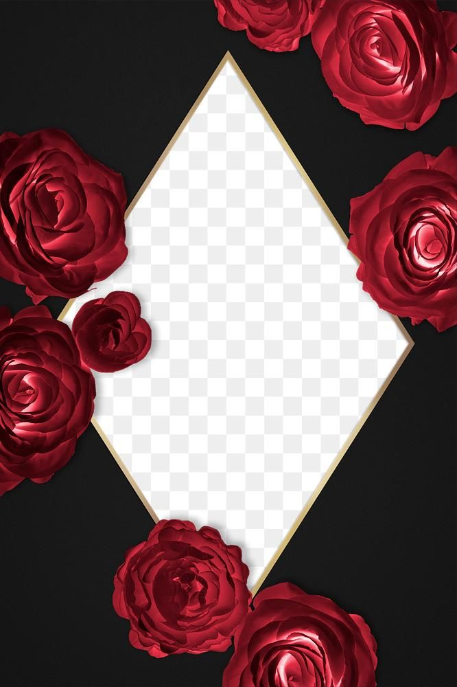 Rosy Golden Rhombus Frame Design Element Free Image By Rawpixel Com Gade Red Roses Background Design Element Frame Design