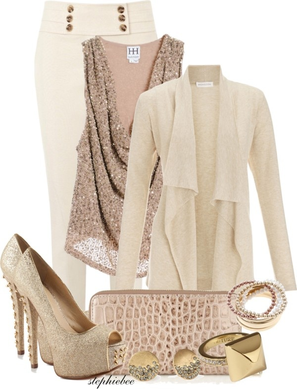 """Winter White Classy"" by stephiebees on Polyvore"