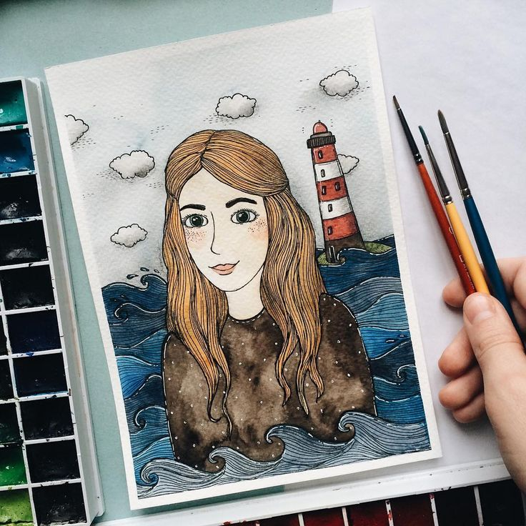 Sea girl   . #samoshkina_art #illustration #illustrations #dailyart #art #artist #art_we_inspire #art_spotlight #art_public #inspire #instaart #wearevsco #vscoart #vscocam #watercolors #watercolorart #aquarelle #cute #toppaint #topdraw #topcreator #globalart #topart #painteveryday #detail #soulart #artcitchen #eatsleepdraw #artbook