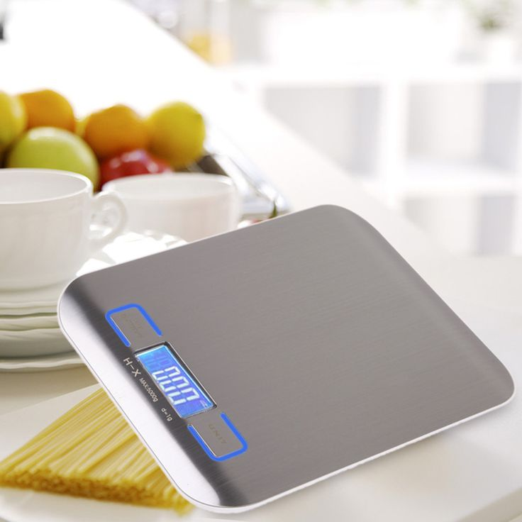 Cheap Digital Scale Stainless Steel 11 LB / 5000g Kitchen Scales Cooking Measure Tools Electronic Weight LED Food Scale Tools coffee
