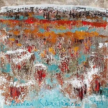 Reidar Särestöniemi, 1974: Syksy jänkällä. Oil on canvas. 140x140 cm.