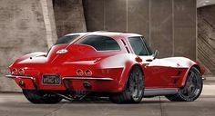 '63 Corvette Stingray..WHEN THIS 'RAY IS LOWERED WITH FAT HIDES...THIS ROD IS HOT FROM ALL ANGLES...