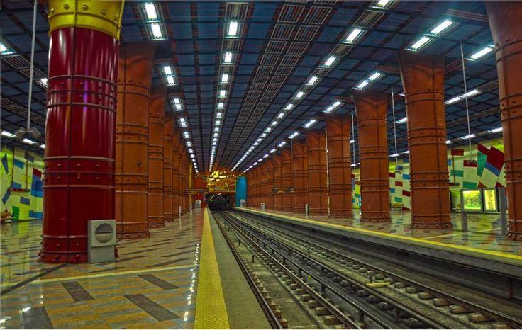 """Metro station """"Olaias"""", Lisboa  By J.Pereira"""