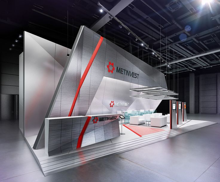 Quick and simple design of the exhibition stand for a Russian Metal producer for the fair that took a place in Moscow