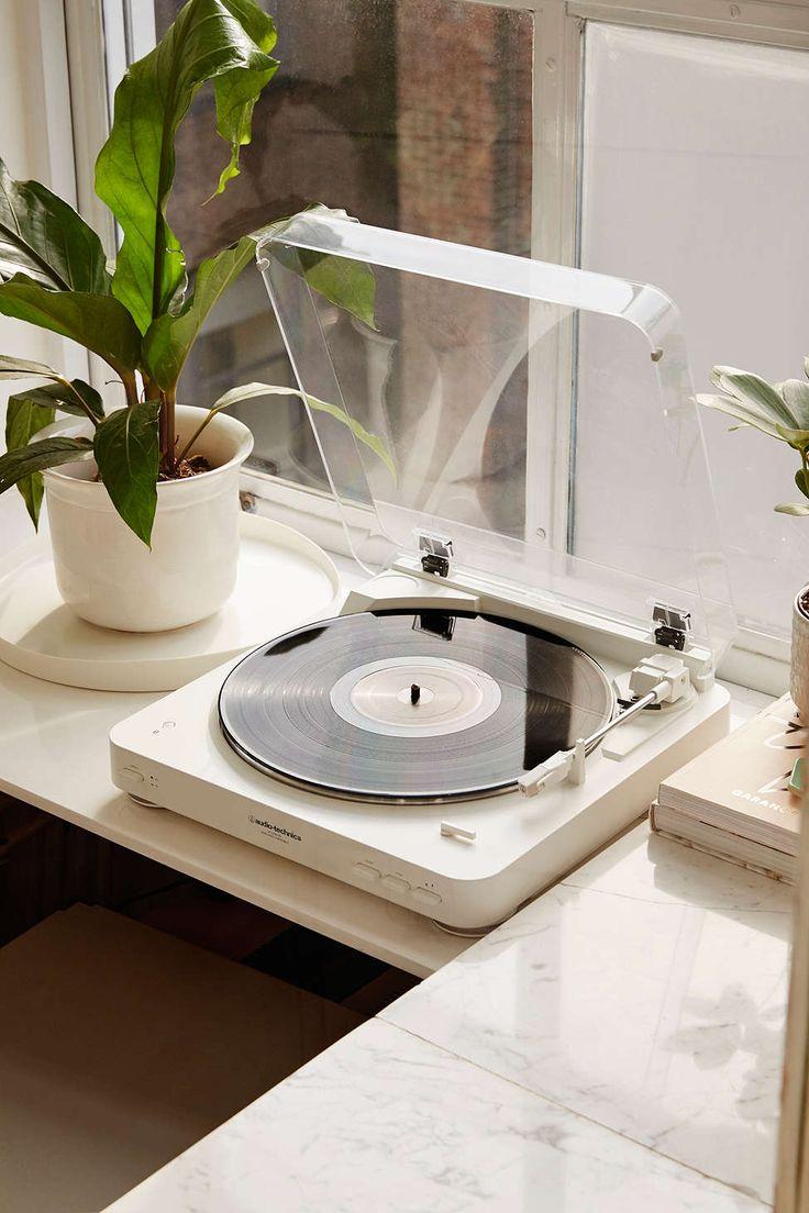 Tourne-disque vinyle AT-LP60 sans fil Audio-Technica - blanc