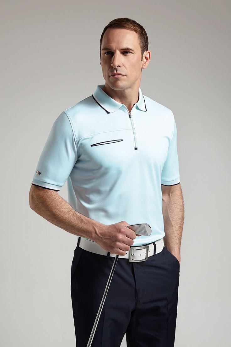 Mens Performance Zip Neck Polo Shirt - Golf Clothing