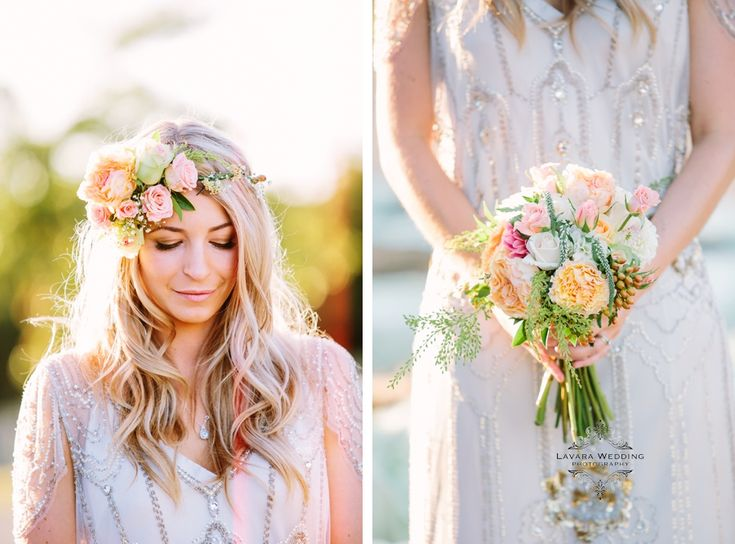 wedding flowers wild flower bouquet, floral crown