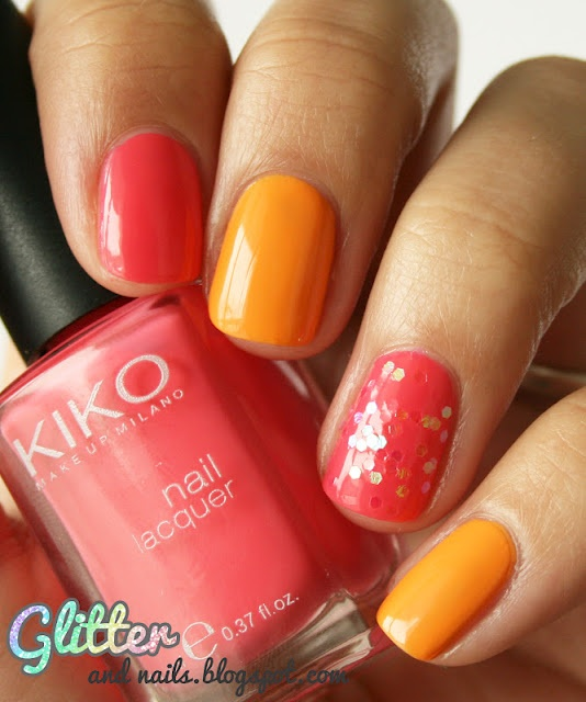 Melon and pink and glitter!