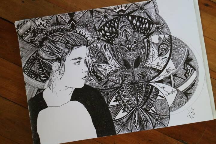 Beautiful chaos, 2016, pen drawing