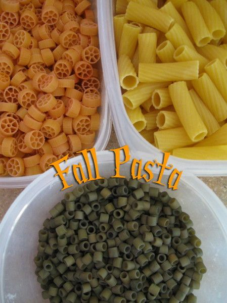 Fall Pasta Necklace + other ideas for Fall Class Party from Jeanetics.net