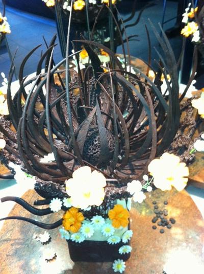 Chocolate display at Eight restaurant  #langham #auckland