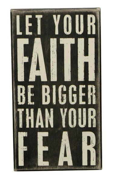 Primitives by Kathy Box Sign, 5 by 9-Inch, Faith be Bigger