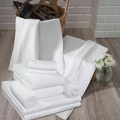 Concierge Collection 100% Turkish Cotton 10-piece Hotel Collection Towel Set - White