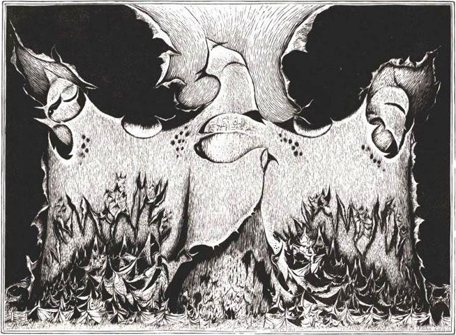 Gielniak, Józef - Transitus (sanatorium IX), 1971, linoryt, bibułka chińska