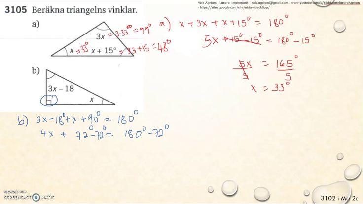 Matematik 5000 Ma 2b   Kapitel 3   Geometri   Vinklar och vinkelsumma   ...