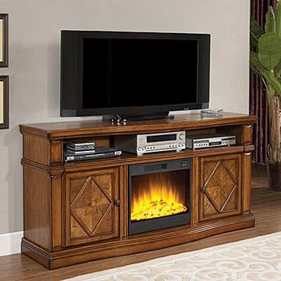 Fireplace Media Center 72 Quot Oak Big Lots New House Ideas