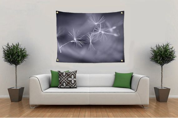 Fine Art Nature Photography for you and your fashionable home.  ~TAPESTRY WALL HANGING~OUTDOOR TAPESTRY~GARDEN FLAG~BEACH BLANKET~ Dandelion Seed Wall Tapestry, Minimal Gray Wall Hanging, Wispy Photo Tapestry, Tapestry Wall Hanging, Lar... #christmasgift #inlightimagery #shopsmall #shopart #naturephotography #fineartgift #etsy