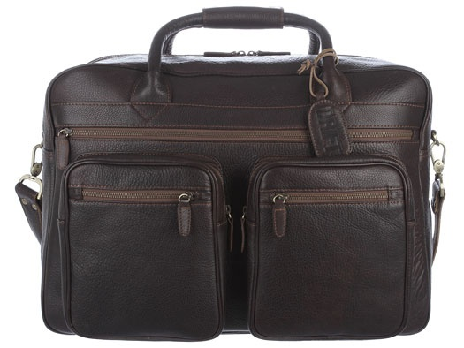 Drift 'Train' Chocolate Vintage Leather Holdall from PureLuxuries.com. £262.00