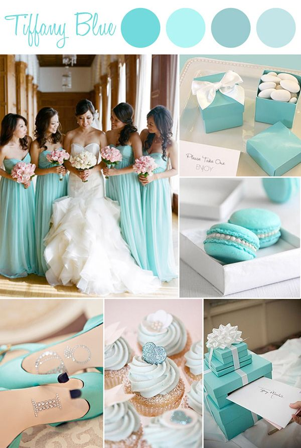 classic tiffany blue wedding color ideas