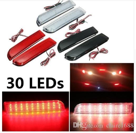 30 LED Red Rear Bumper Reflector Tail Brake Stop Running Turning Light Lamp For Mitsubishi Lancer 2008-2014 - $32.99