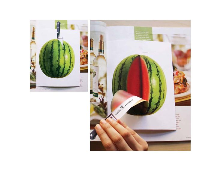 Image result for interesting way magazine articles interact with advertisements die cut