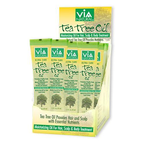ViA Natural Oil for Hair, Scalp & Body Treatment (Tea Tree Oil) (1.5oz / 24pcs)