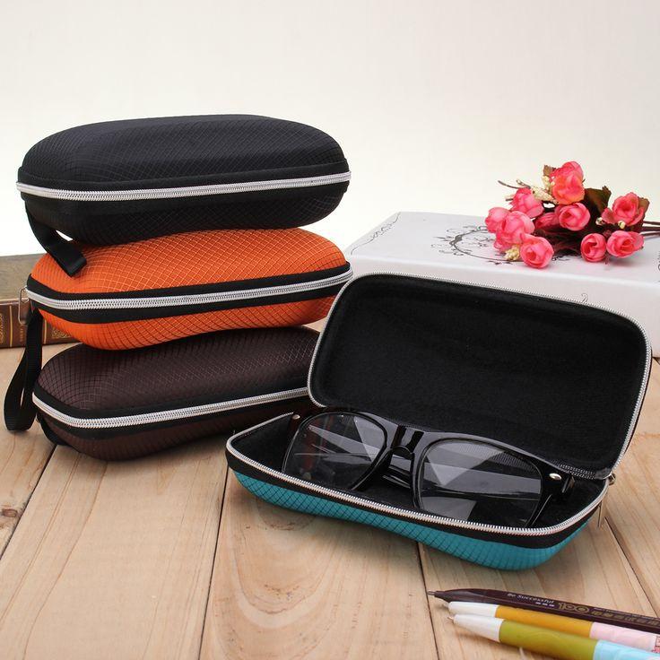 Zipper Hook Sunglasses Box Compression Resistance Plastic Travel Carry Case Bag