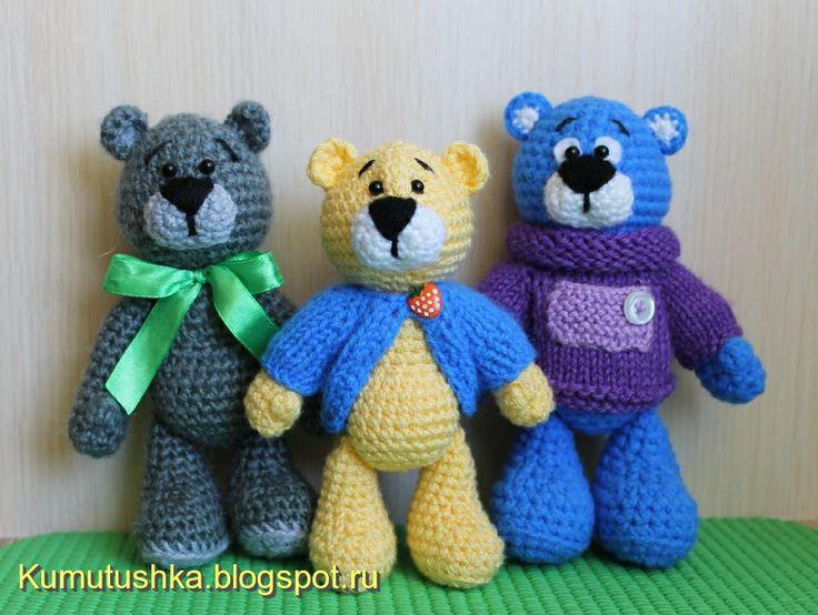 Amigurumi Crochet Patterns Teddy Bears : Amigurumi teddy bear brothers in sweaters free crochet pattern