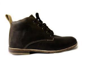 100% handmade leather men's shoes Mid top - Bark Brown colour  SIXKINGS Viking range