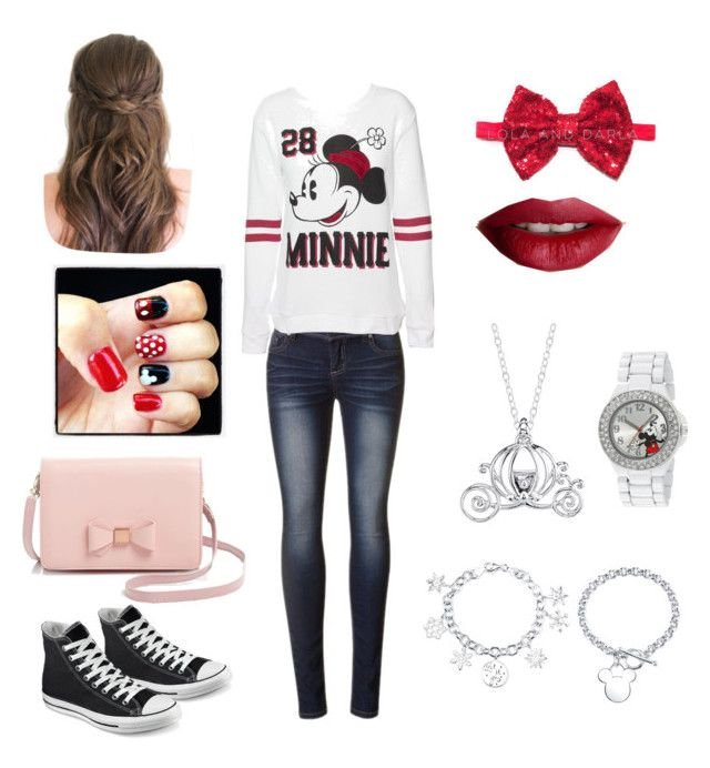"""Disney inspired"" by myataylor1 ❤ liked on Polyvore featuring Disney, Converse, Ted Baker and TheBalm"