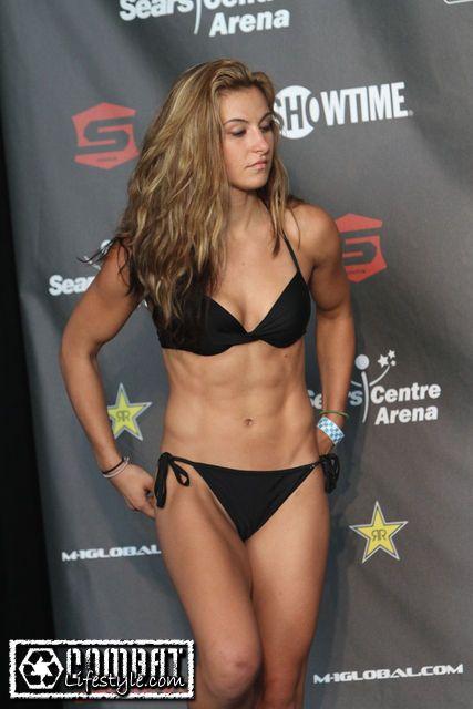 Female MMA fighter Miesha Tate.
