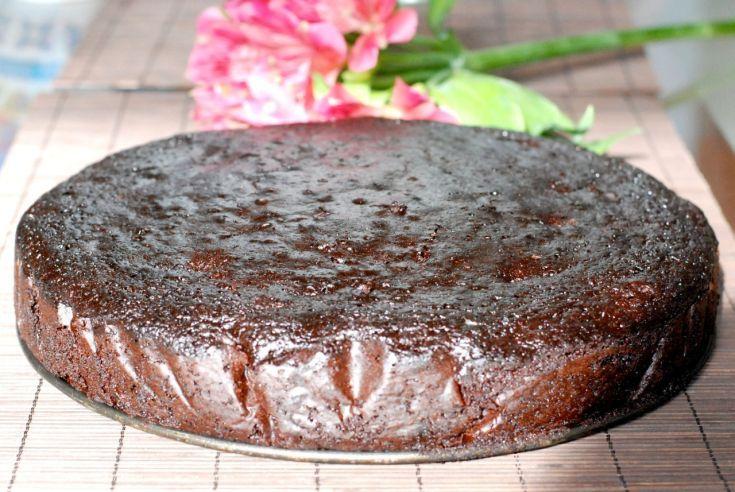 Fotorecept: Šťavnatá špaldová brownies torta