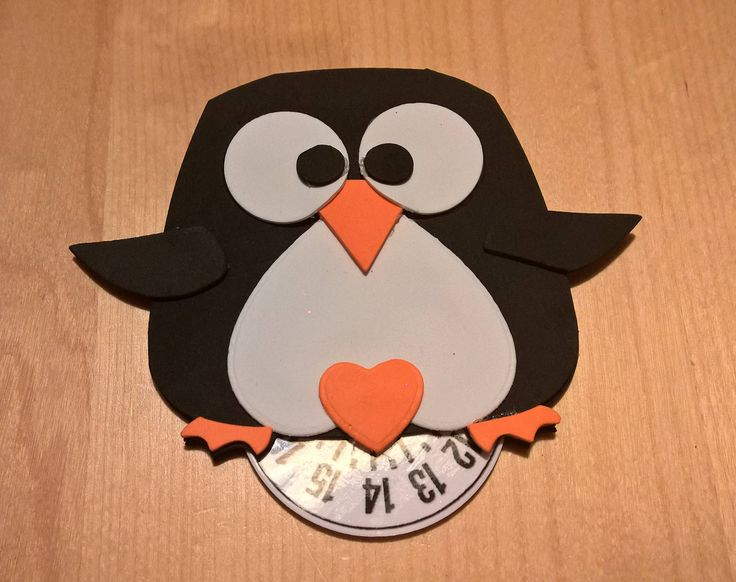 Disco Orario Pinguino Crepla Feltro di SaraHandmadeIT su Etsy