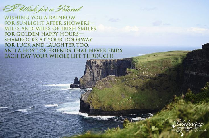 {Inspiring Quote} A Wish For A Friend, An Irish Blessing | Irish Blessing,  Blessings And Rainbow Quote