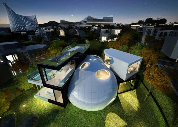 The Cocoon House is a Futuristic Concept of a Building Inspired by the Living Organism!  Read more: http://www.homevselectronics.com/the-cocoon-house-is-a-futuristic-concept-of-a-building-inspired-by-the-living-organism/#ixzz2mj2GJnye