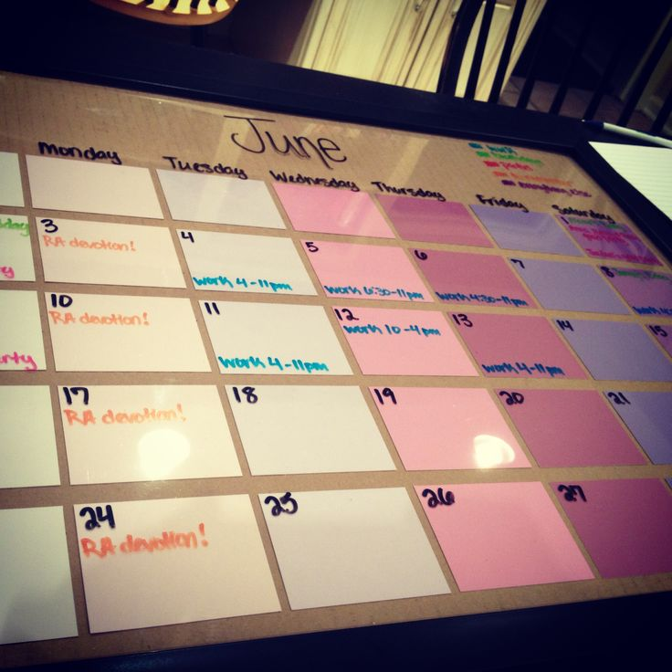 Best 25 Dry Erase Calendar Ideas On Pinterest Board