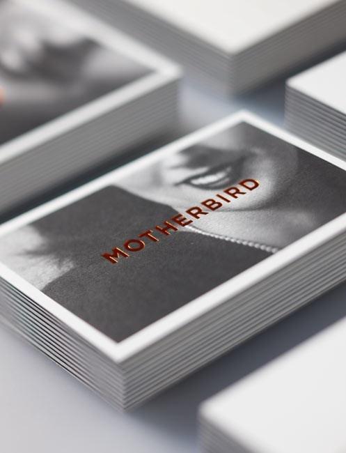 Logos and Identity / Motherbird studio stationery