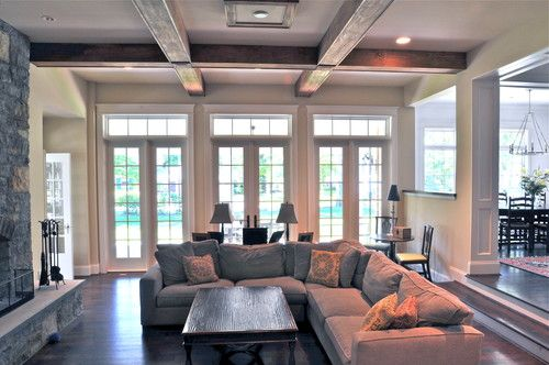 Love all the French Doors, step down and millwork