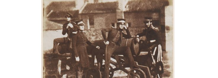 Major Crawford, Major Wright, Capt. St. George, and Capt. Bortingham of the Leith Fort Artillery c1845