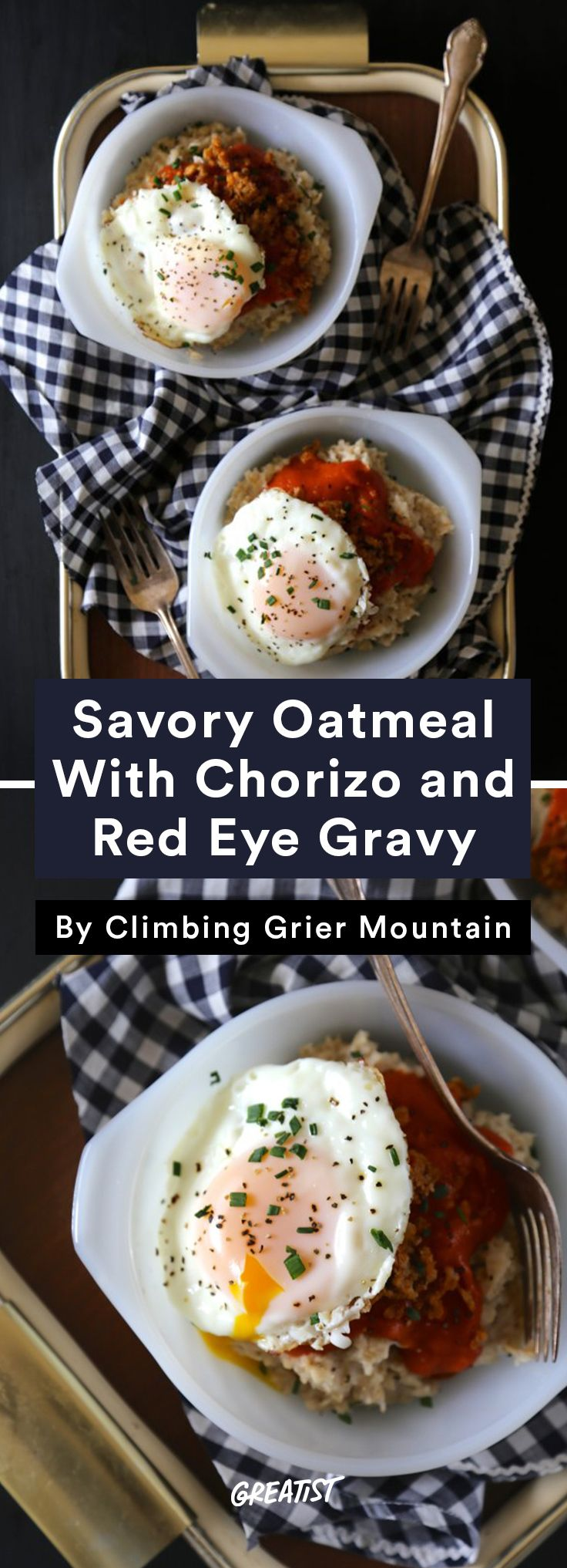 3. Savory Oatmeal With Chorizo and Red Eye Gravy #easy #coffee #recipes http://greatist.com/eat/coffee-recipes-that-use-your-leftover-cup