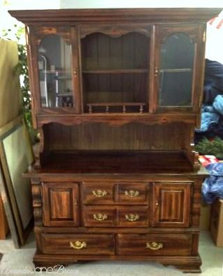so this is the same hutch I need to paint... like what she did but distressed! Hutch Makeover with Annie Sloan Chalk Paint