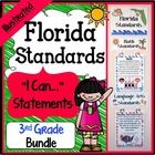 "Florida Standards - 3rd Grade Bundle - Save a ton of time by buying our FULL PAGE SIZE pre-made Florida Standards Illustrated ""I Can"" Statements fo..."