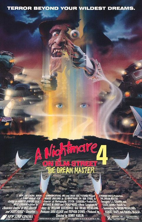 Nightmare On Elm Street 4(The Dream Master)  Poster 7/10  Film 6/10