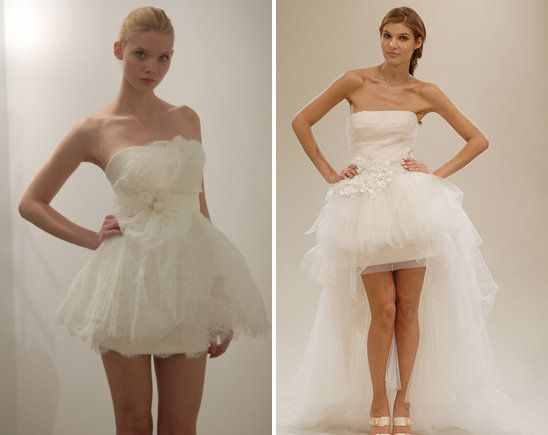Short Wedding Dress..the one on the left is super cute