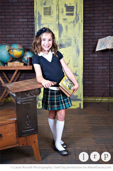 Back to School Photography Ideas via iHeartFaces.com - Portrait Photography by Larae Russell Photography