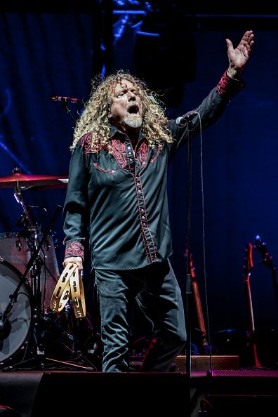 #RobertPlant performs live with the Sensational Space Shifters at Assago Summer Arena for the Street Music Art Festival on July 20, 2016 in Milan, Italy. (Photo by Sergione Infuso/Corbis via Getty Images).